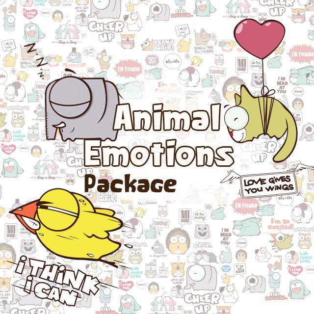 clipart package animal emotions