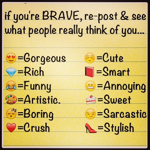 If you can use emoji if not say the symbol plz rate me...