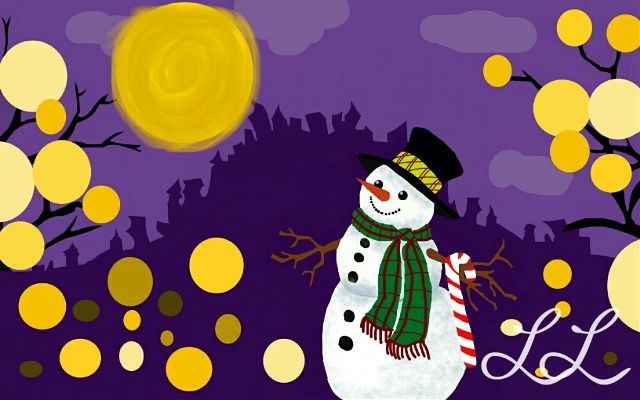 snowman drawing art contest