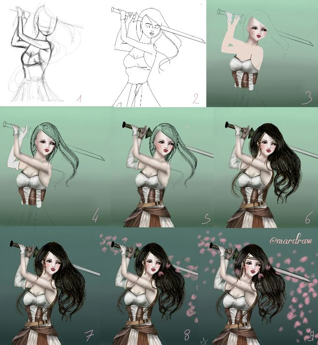 how to draw manga step by step