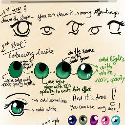 drawing draw manga anime eye