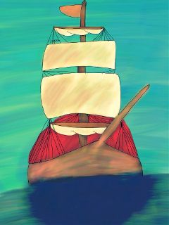 dcship drawing ship ocean