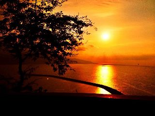 color splash sunset beach nature summer