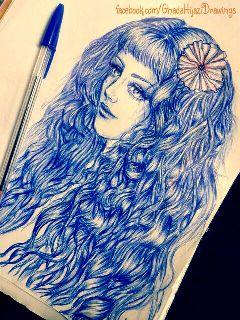 ballpoint pen fanart drawing art sketch