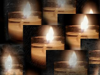 nature collage photography vintage candles