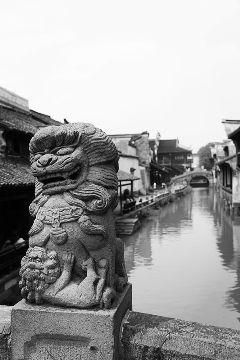 black & white china