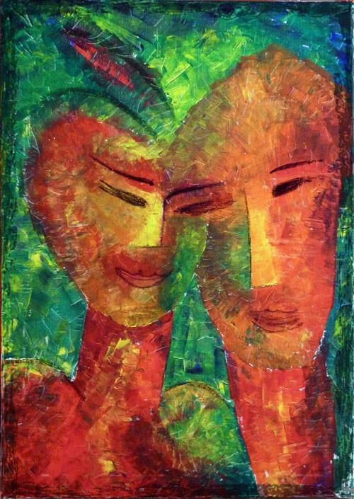 In Harmonie Acrylbild