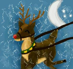 dcreindeer colorful drawing cute pets & animals
