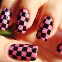 cute girls nails nail art creative color splash