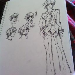 manga draws males pencil art messy sketch sharpie