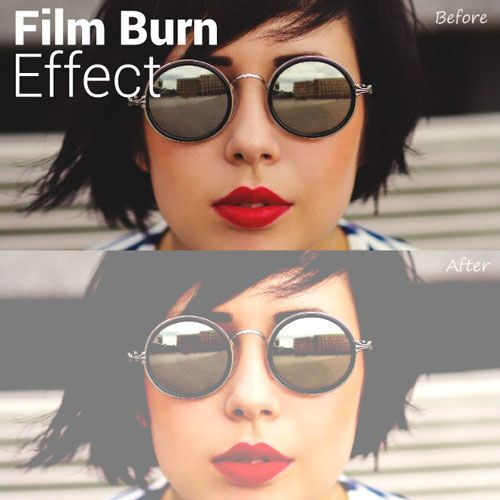 PicsArt film burn effect