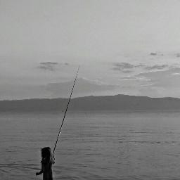 black & white beach lake summer