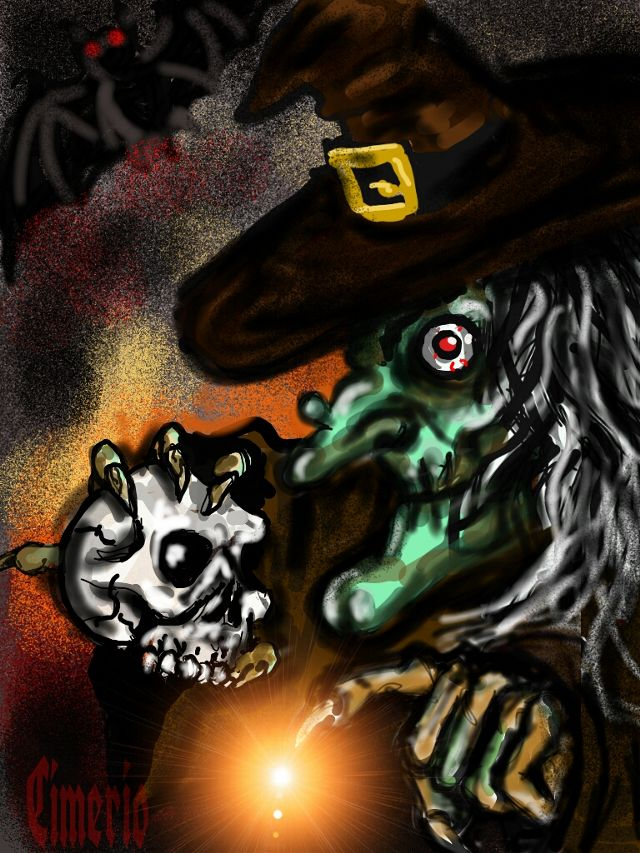 witch drawing art contest