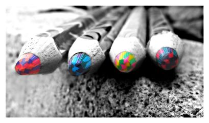 black & white colorful hdr