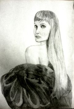 black & white cute drawing pencil art people