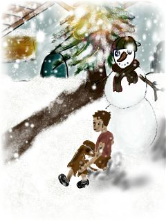 christmas colorful drawing winter emotions