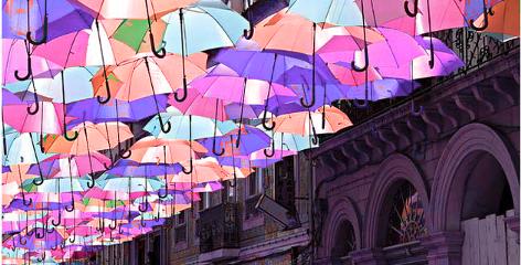 colorful rain vintage